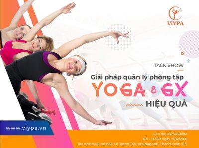 Talkshow giải pháp quản lý phòng tập yoga và group-X hiệu quả